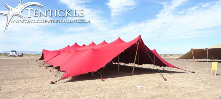 Red tent setup in Tankwa Karoo - Afrikaburn 2014