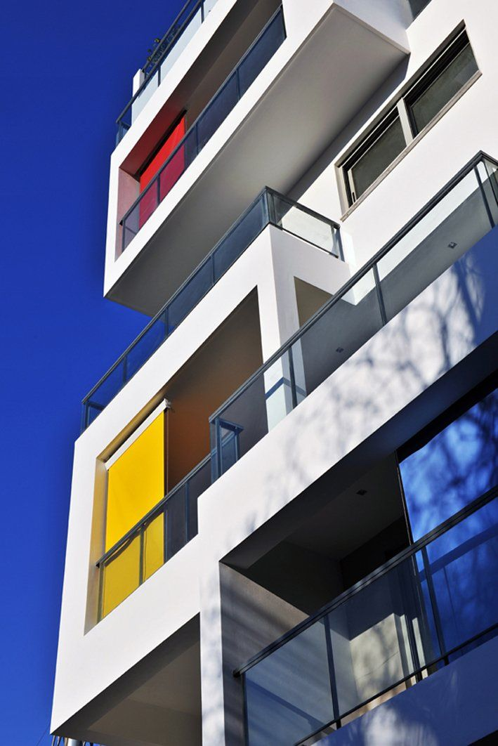 Mondrian inspired Urban Cubes by KLab Architecture