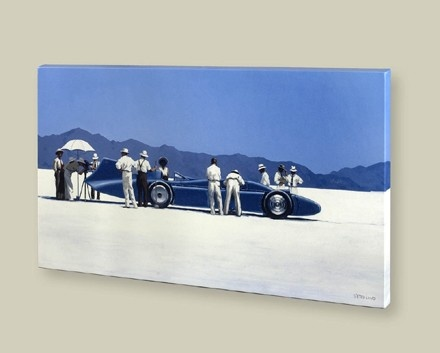 Art Prints Gallery - Bluebird at Bonneville (Canvas), £139.00 (http://www.artprintsgallery.co.uk/Jack-Vettriano/Bluebird-at-Bonneville-Canvas.html)