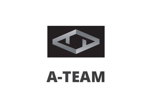 Logo, Monogramm, Signet, Buchstaben, A, T, Abstrakt, Grafikpart