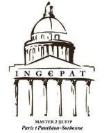 Université Paris 1 Panthéon-Sorbonne: gestion? Master 2 pro Droit et fiscalité de l'Ingénierie sociétaire et patrimoniale - Ex Ingénierie juridique e...