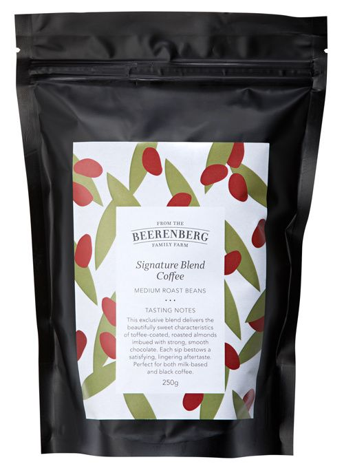 The Beerenberg Signature Blend Coffee Beans 250g are the perfect addition to your pantry. Get yours today online or in-store. #CoffeeBeans #Coffee #Beerenberg #CaffieneFix
