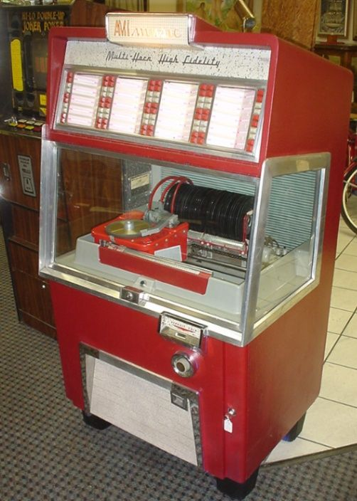 """Often called the """"Golden Age"""" of music, in the 1950's jukebox was king. All you needed was a nickel and an illuminated music machine, and you could listen to your favorite songs and singers all night long.  And then, in 1954/55, rock and roll started to make inroads, and the jukeboxes become a complete mix of all kinds of music...all of it good! The world has never seen such a mix of phenomenal sounds as it did in the 50's.."""