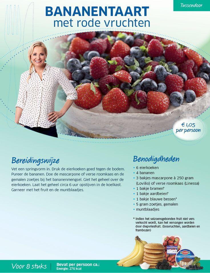 Bananentaart met rode vruchten - Lidl Nederland