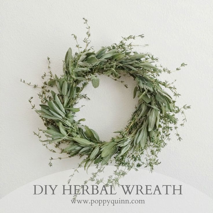 poppyquinn: DIY herbal wreath on www.poppyquinn.com / great for Thanksgiving or Christmas dinner with loved ones / use on the wall, the door, or on the table as a centerpiece!