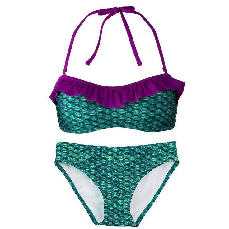 Brynn�s Celtic Green Bandeau Bikini Set is the perfect outfit and essential for this year�s spring break destinations. It� time to cross things off your bucket list! Cross off becoming a mermaid (for you or your kids) by adding Brynn�s Celtic green swimma