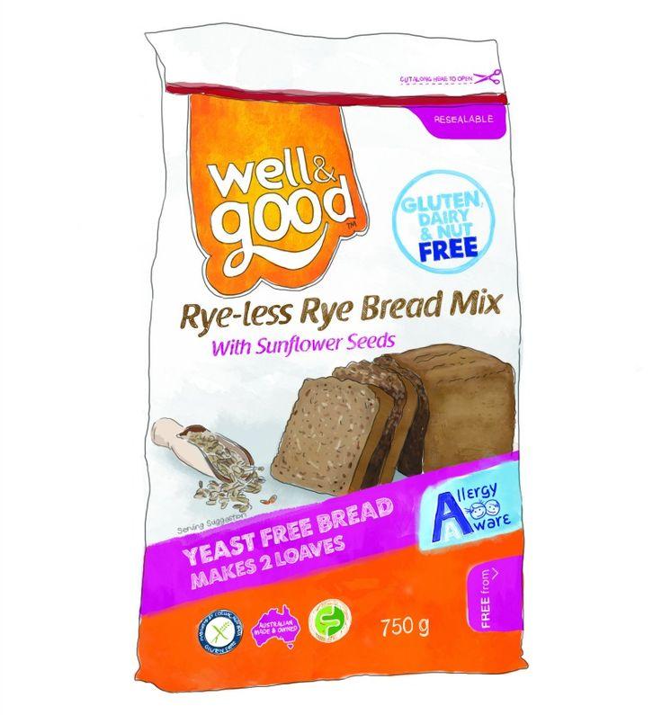 Well & Good Rye-Less Rye Bread Mix! Gluten free bread - super tasty! #glutenfree #wellandgood