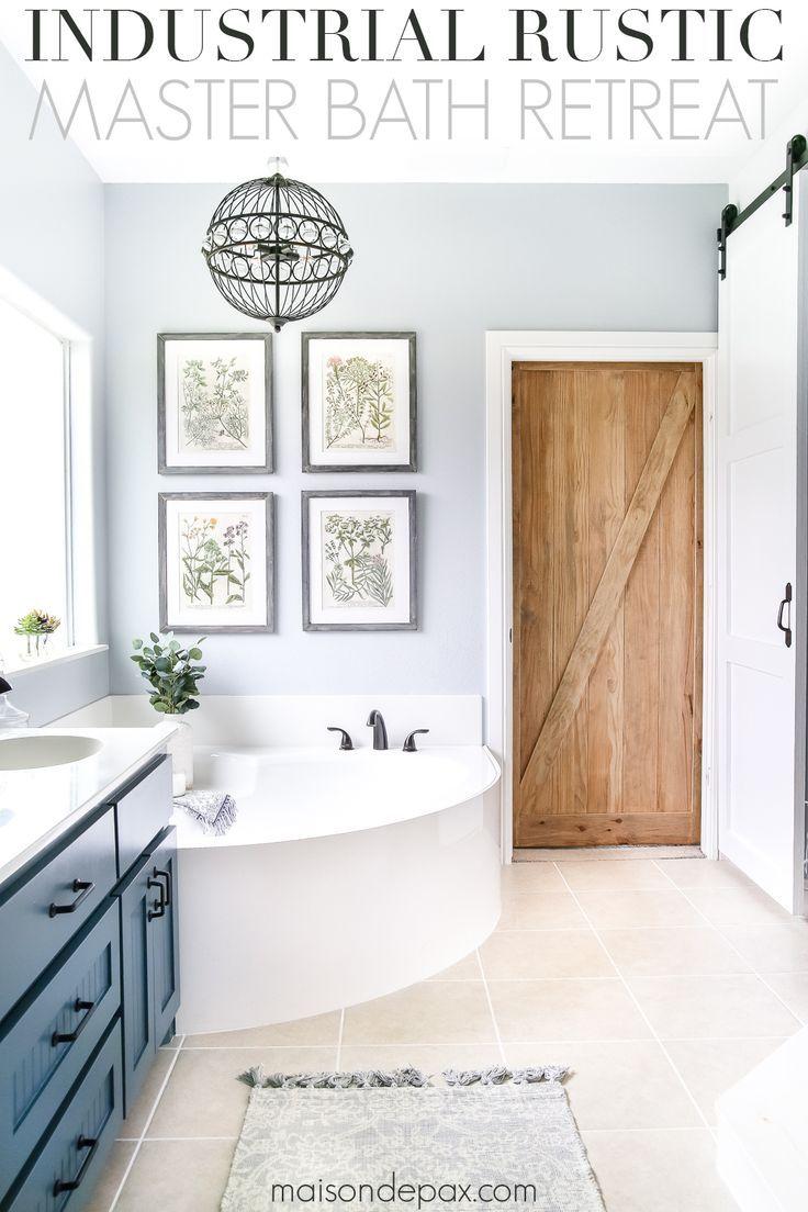 Industrial Rustic Master Bath Retreat Relaxing Bathroom Modern