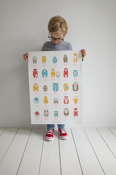 Wanddeko - • ABC-Plakat von 'zenzi design & Söhne' - ein Designerstück von zenzi-design bei DaWanda