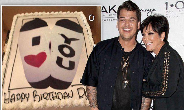 Rob Kardashian thanks Kris Jenner for his sock-themed birthday cake