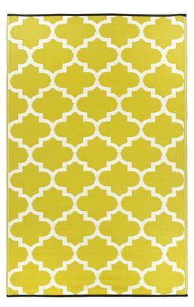 Earth de Fleur Homewares - Tangier Celery Green Indoor Outdoor Mat
