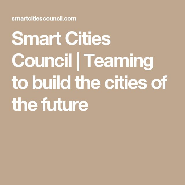 Smart Cities Council | Teaming to build the cities of the future
