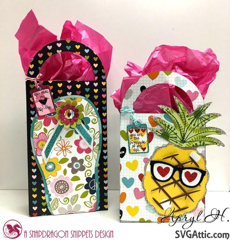 SVG Attic Blog: Valentine Goodie Bags with Apryl  #svgattic #svg