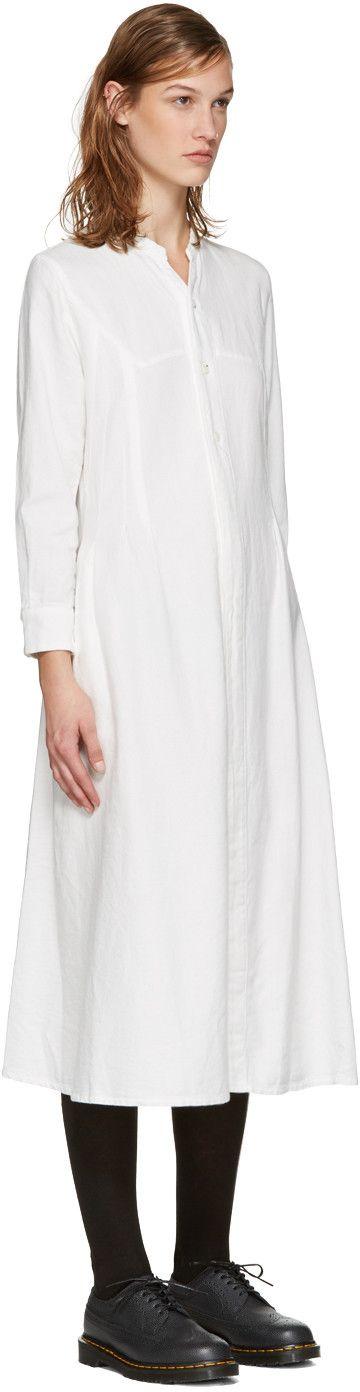Blue Blue Japan - White Tucked Dress