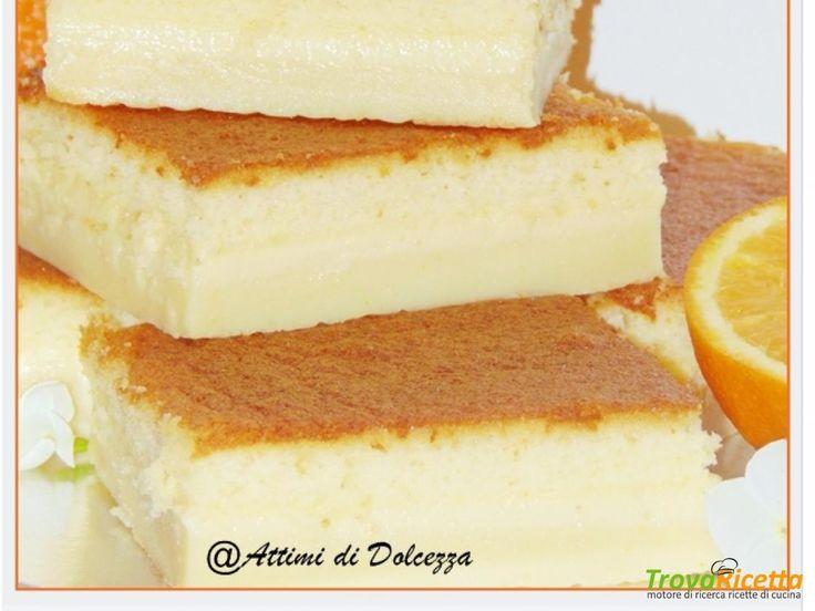 TORTA MAGICA ALL'ARANCIA  #ricette #food #recipes