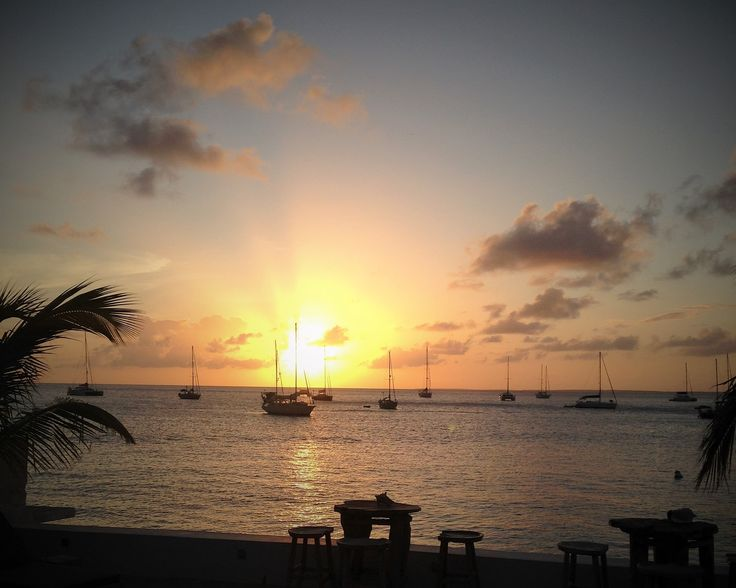 Sunset at Le Shambala, St-Martin