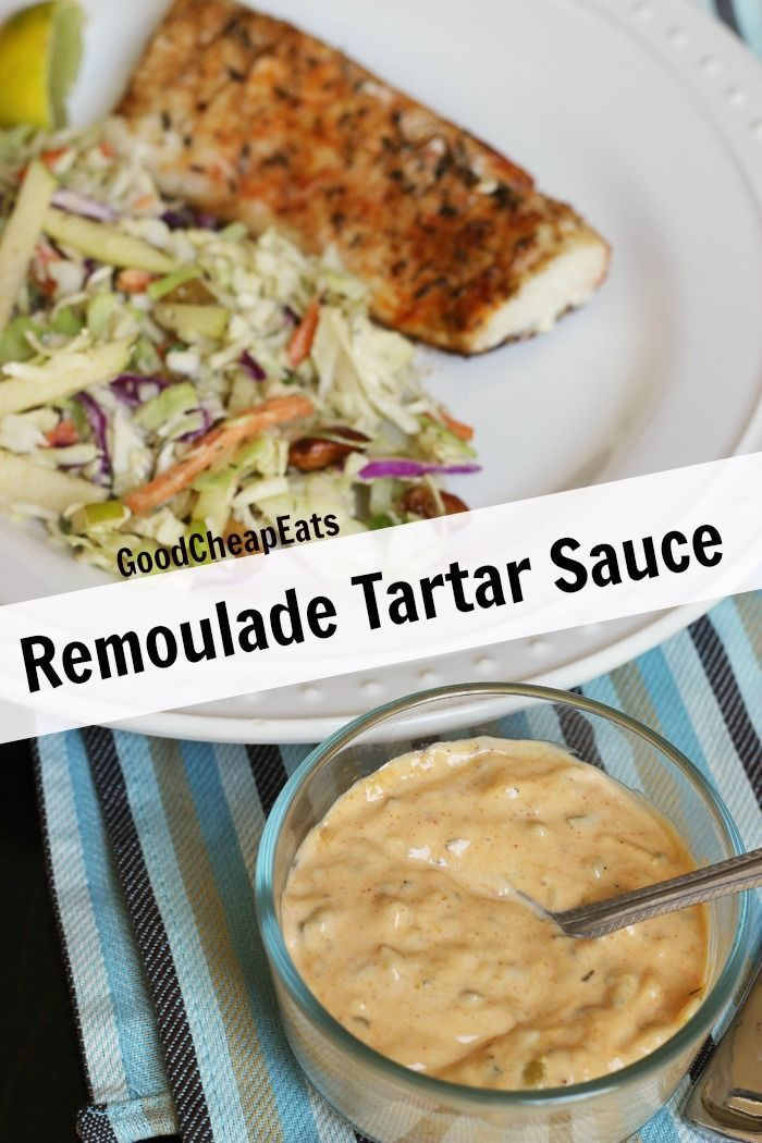 Good Cheap Eats' Remoulade Tartar Sauce - Dress up your favorite grilled or fried fish with this homemade Remoulade Tartar Sauce. It's packed with flavor and a little Cajun kick. #whole30