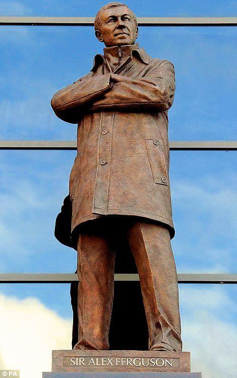 Statue of Sir Alex Ferguson, Old Trafford, Manchester United FC.
