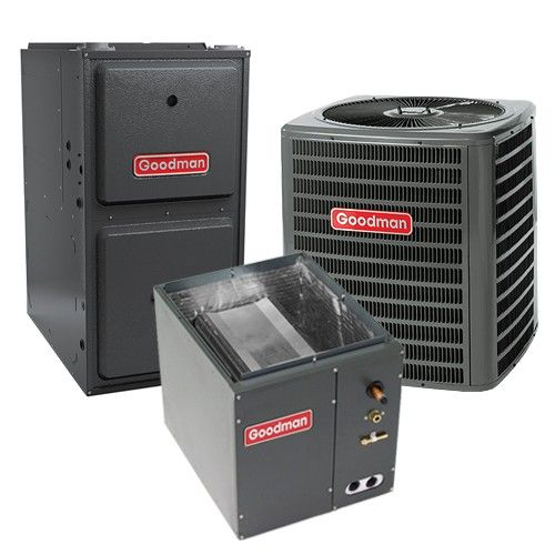 Goodman 1.5 Ton 13 SEER 96% AFUE Gas Furnace and Air Conditioner System - Downflow