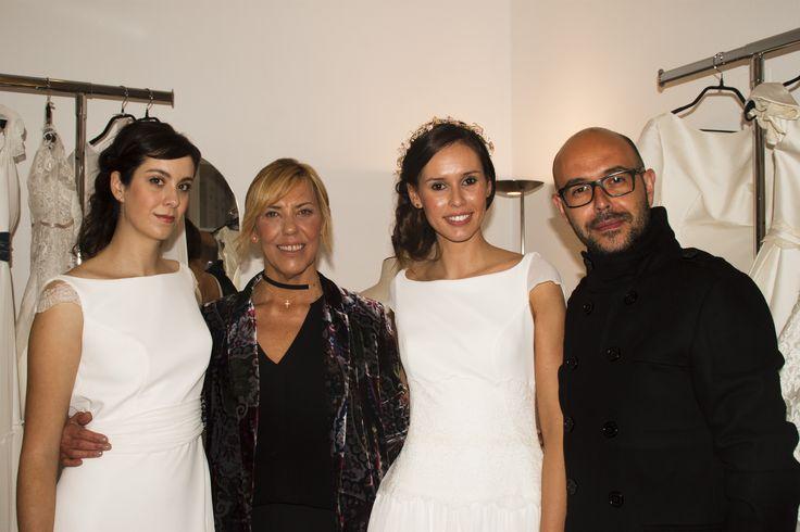 María Argüelles y Josechu Santana con sus modelos.