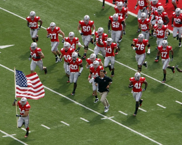 Two things that I love...  The Scarlet and Gray (The Ohio State Buckeyes)    and the USA!!