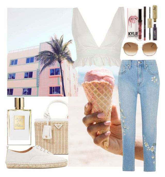 """""""Untitled #488"""" by ngkhhuynstyle ❤ liked on Polyvore featuring Prada, River Island, Madewell, Flamingos, Chloé and tarte"""