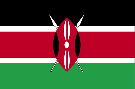 Country Flags: Kenya Flag
