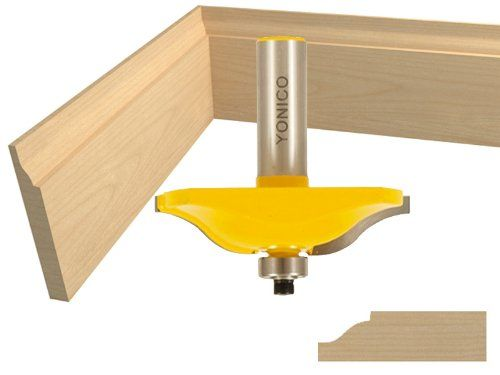 """Base Board Molding Router Bit / Ogee Panel Raiser Router Bit - 2-1/2"""" Diameter - Yonico 12134 - This versatile 2-1/2"""" diameter router bit can be used to make beautiful ogee design baseboards as well as raised panels for cabinet doors. Ogee design bas"""