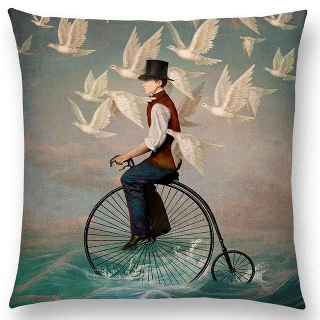 Beautiful Girl Shakespeare Style Oil Painting Cushion Cover