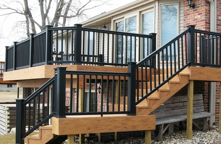 Accent Your Deck With A Black Rail Classy Timbertech