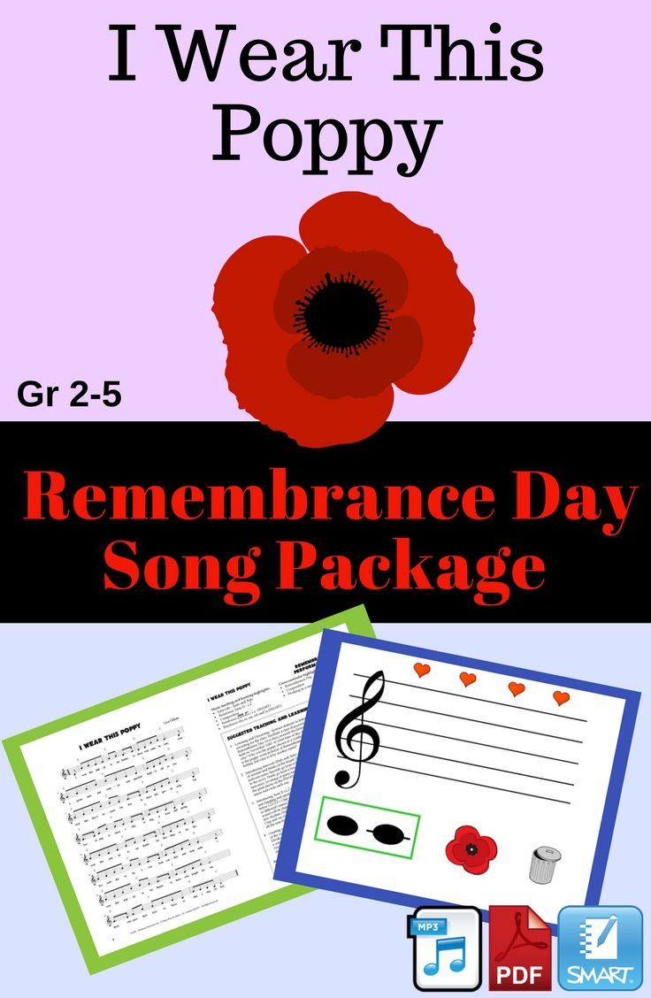 This song is suitable for both classroom and performance purposes. Students will explore the topic of Remembrance Day and why it is so important to mark this special holiday. This package includes two recordings, a SMART Notebook file and a PDF with sheet music, performance suggestions and lesson ideas.