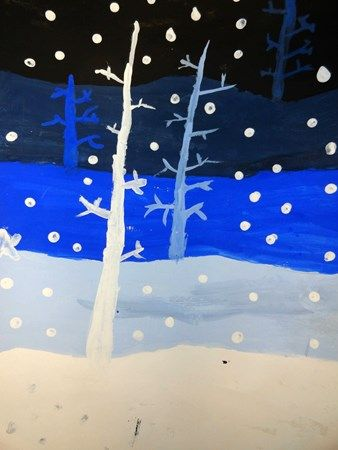 "From exhibit ""Winter Trees"" Artsonia Art Museum :: Artwork by Hailey6857"