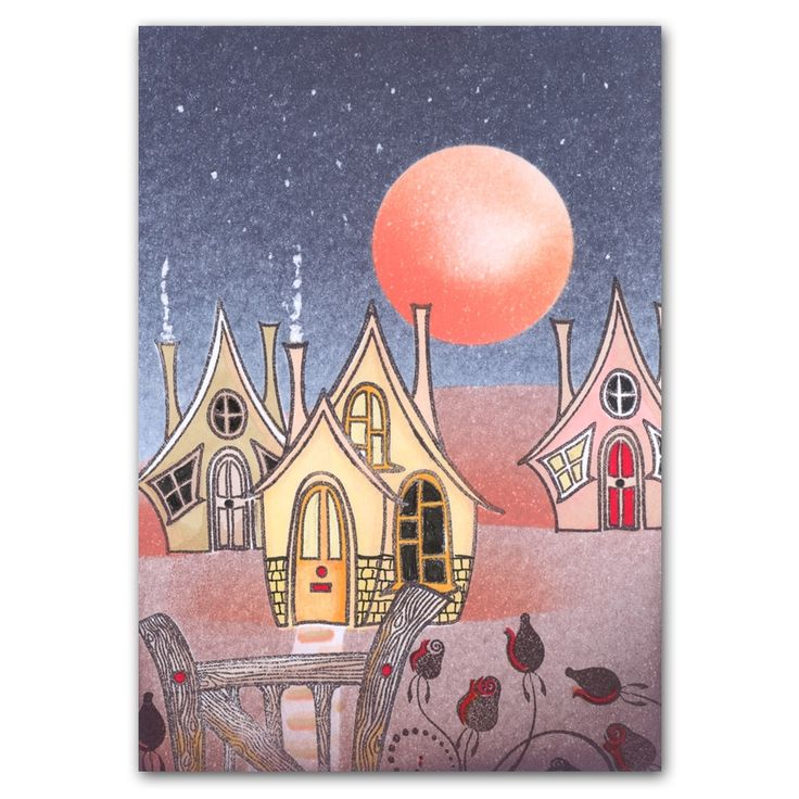 Quirky Houses- Clarity stamps