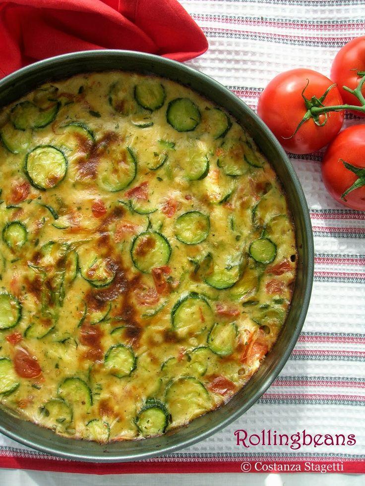 Rollingbeans: Crostata salata di zucchine e maggiorana