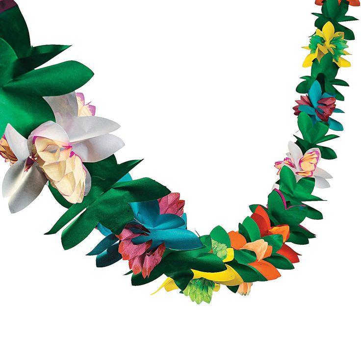 Colorful Flower Garland - OrientalTrading.com