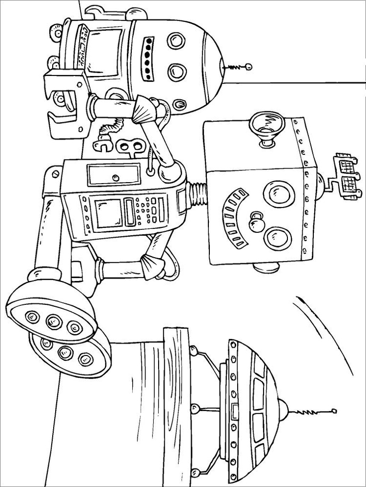 Robot Coloring | Coloring page toy robot - img 22820