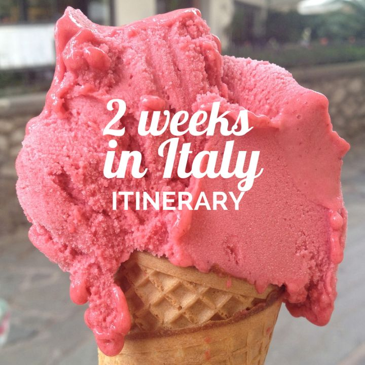 Italy--where do you start? Here is a comprehensive 2-week itinerary to make sure you see it all.