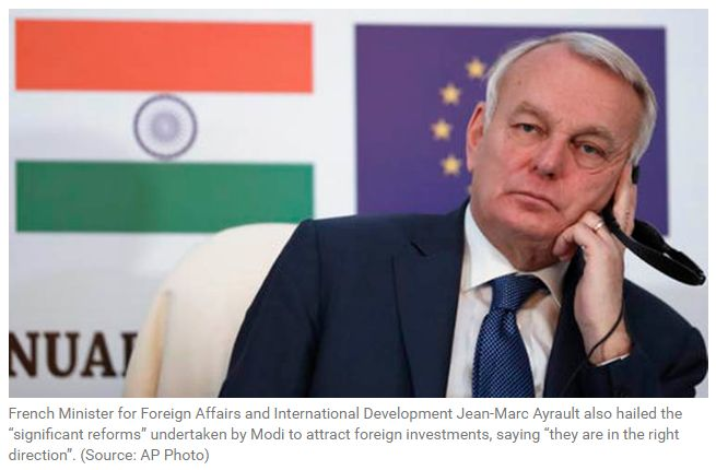 "Demonetisation shows 'boldness' of Modi: France ""French Foreign Affairs and International Development Minister Jean-Marc Ayrault also hailed the """"significant reforms"""" undertaken by Modi to strengthen bilateral economic ties. Get Narendra Modi's & BJP's latest news and updates with - http://nm4.in/dnldapp http://www.narendramodi.in/downloadapp. Download Now."""