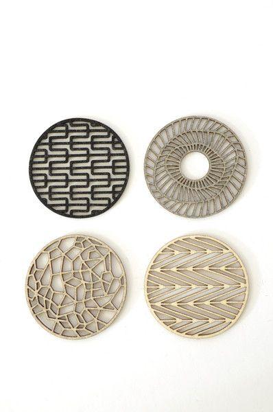 Geometric Coasters... would make great art!