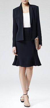 On the blog: Fontez Tailored Jacket & Sandra Fluted Hem Skirt #Reiss #Jacket #Skirt