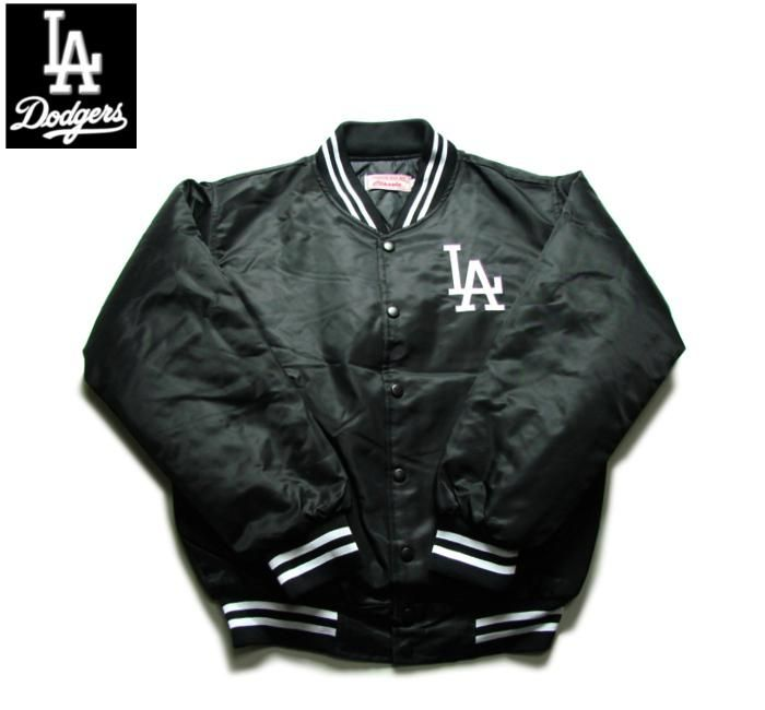 【LOS ANGELES DODGERS】【ロサンゼルス・ドジャース】ナイロン・スタジアム・ジャケット ブラック バックLA BIGロゴ サイズS-2XL 【アウター】【MLB】【jacket】【black】【白】【スタジャン】【ヒップホップ】【黒】【ウェストサイド】【送料無料】【あす楽】【楽天市場】