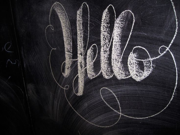 Chalk art. Swirl font.