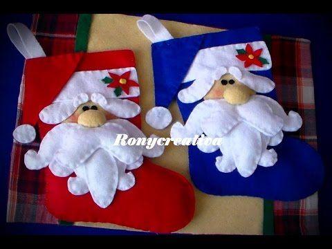 Dulcero de Papa Noel o Santa Hecho de Fieltro | DIY | Navidad - YouTube