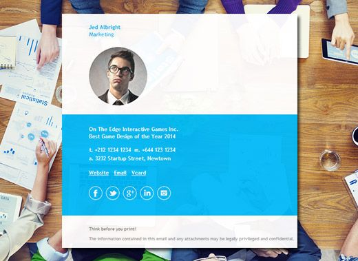 Professionally designed email signature templates that work on all your favorite email clients like Outlook, Apple Mail, Gmail + more. http://emailsignaturerescue.com