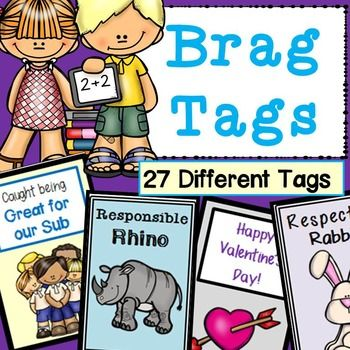 27 DIFFERENT tags to use as positive reinforcement. Tags included: Character Education, Academics, Behaviors & Holidays. All tags are 2'' x 3''.…