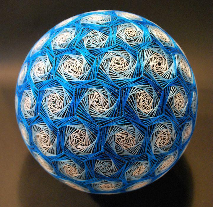 Unique Handmade Embroidered Temari Balls #craft