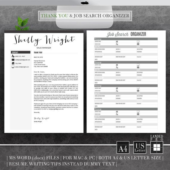 Resume Template & Cover Letter Template Professional by LANDEDpro