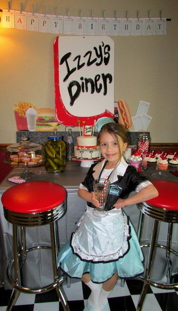 50's Diner themed birthday party. Cute!!