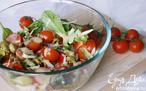 Салат с помидорами черри и пекинской капустой | Кулинарные рецепты от «Едим дома!»