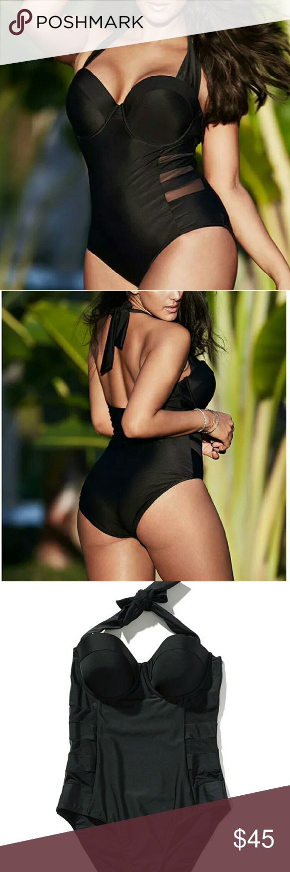 Plus size super sexy one piece bathing suit Padded. . Wire free. Polyester.spandex. comes in two size Swim One Pieces